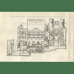 1922 American Powerstation At Coalmine Colfax Pennsylvania 1