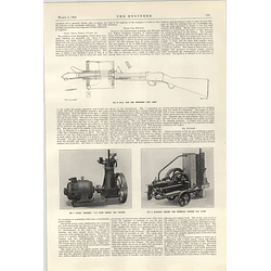 1922 National Engine Charcoal Suction Gas Plant Bsa Gun Throwing Lifelines