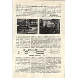 1922 Diesel Driven Pumping Plant For Trinidad Friction Drive For Rolling Mill