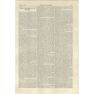 1922 Article On Timothy Hackworth And The Locomotive By Robert Young