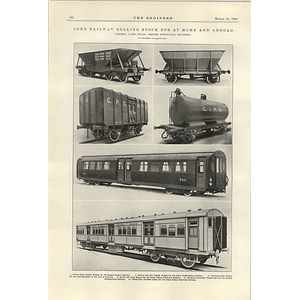 1922 Railway Rolling Stock Cammell Laird Great Indian Peninsula Railway