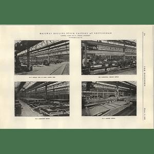 1922 Nottingham Works Cammell Laird Shop View Assembling Erection