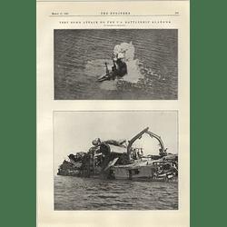 1922 Test Bomb Attack On Us Battleship Alabama