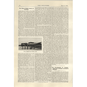 1922 Effect Of Bomb Attack On Warships
