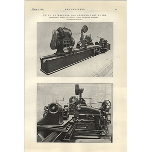 1922 Barton Carr Automatic Control Valve Chilled Iron Grinding Machine