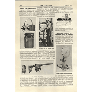 1922 Formal Opening Of Waterloo Station Plans Electric Cap Lamp For Miners