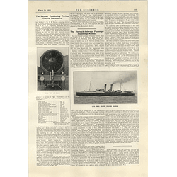 1922 Condensing Turbine Electric Locomotive Ramsay Glasgow Description Harwich Antwerp Steamer