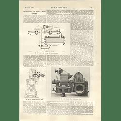 1922 Powerstation Design Weir Steam Ejector Evaporator Pump