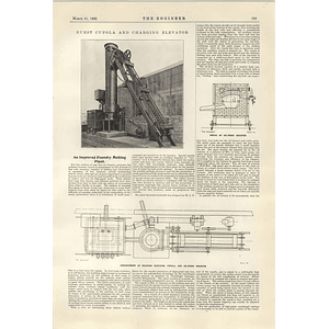 1922 Hurst Cupola And Discharging Elevator Davies Metcalfe Steam Injector