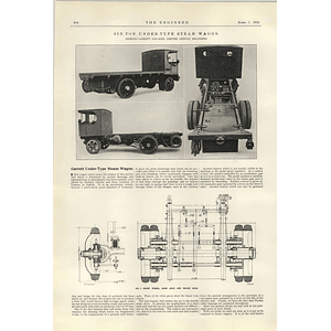 1922 Six Ton Under Type Steam Wagon Richard Garrett 1