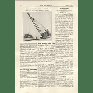 1922 20 Ton Locomotive Steam Crane Bombay Samuel Butler Stanningley