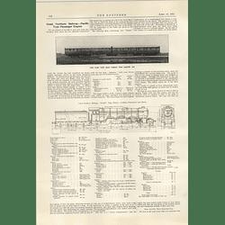 1922 Great Northern Railway Pacific Type Passenger Engine