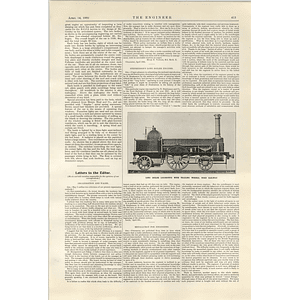 1922 Long Boiler Locomotive With Trailing Wheels Nord Railway