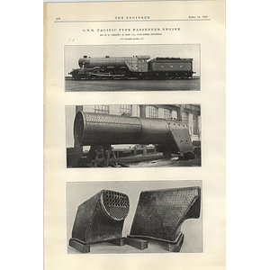1922 Gnr Pacific Type Passenger Engine Gresley Doncaster