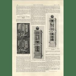 1922 Tumlock Automatic Train Coupler Solenoids Type Motor Starting Panel