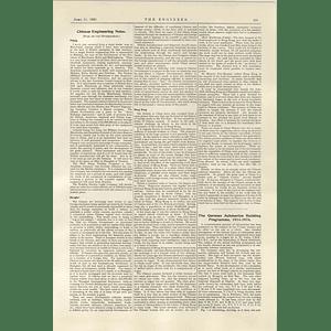 1922 German Submarine Building Programme 1914 To 18