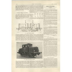 1922 French Petrol Locomotive Renault 19 Ton