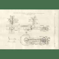 1922 Machine For Cutting Turbine Reducing Gear Wheels W Muir Manchester