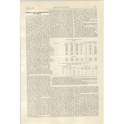 1922 Germany's Naval Airships And Their War Record Table Description