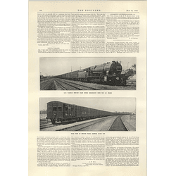 1922 2000 Ton Train Gip Railway With Experimental Brakes
