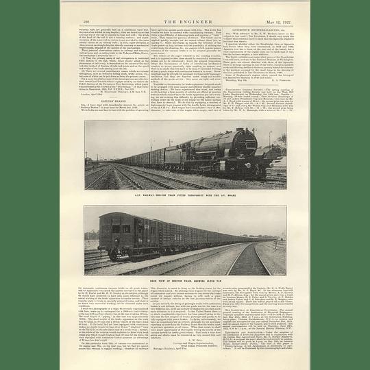 1922 2000 Ton Train Gip Railway With Experimental Brakes