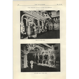 1922 White Star Line Majestic Turbine Control Station