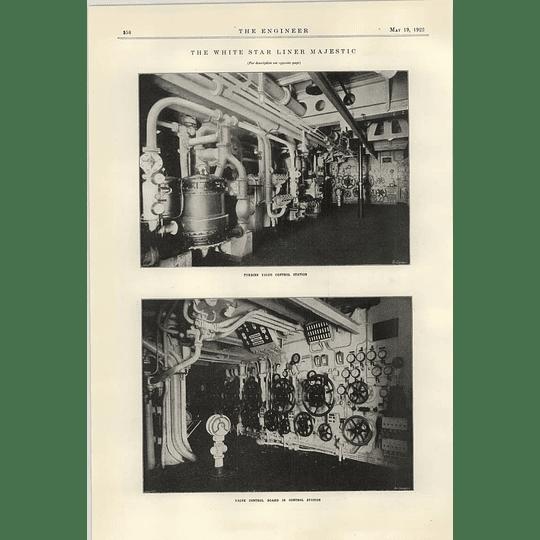 1922 White Star Line Majestic Turbine Control Station