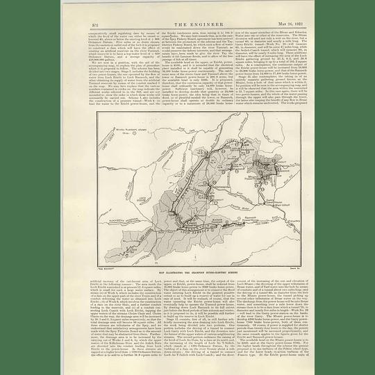 1922 The Grampian Hydroelectric Scheme Map