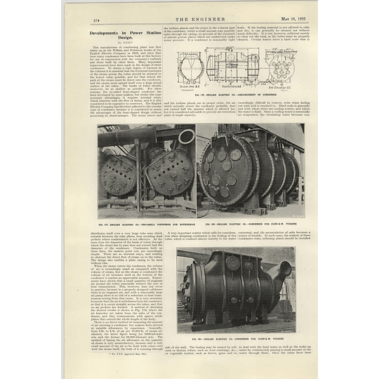1922 English Electric Two Shell Condenser For Rotherham Powerstation