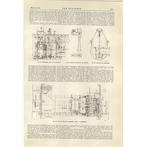 1922 Willans Condensing Plant At Dalmarnock Plans Diagrams