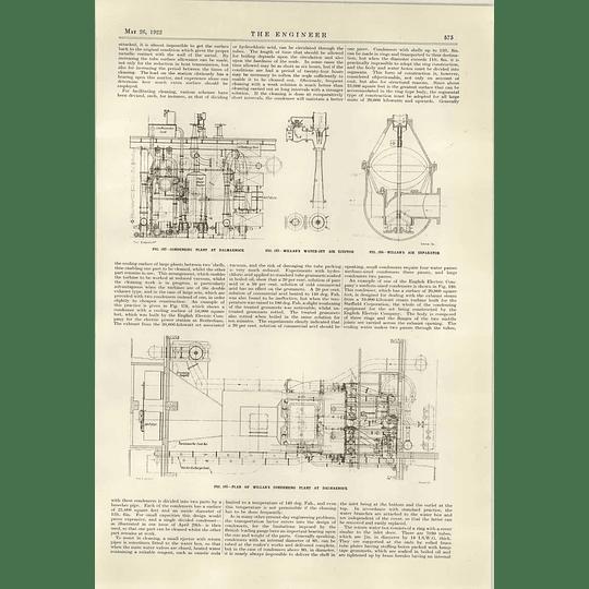 1922 Willans Condensing Plant At Dalmarnock Plans Diagrams