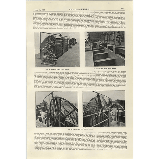 1922 Cooling Tower Water Screens Disc Type Vertical Band