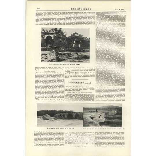 1922 Flood Problem China Drainage System Shantung Railway Po Shang