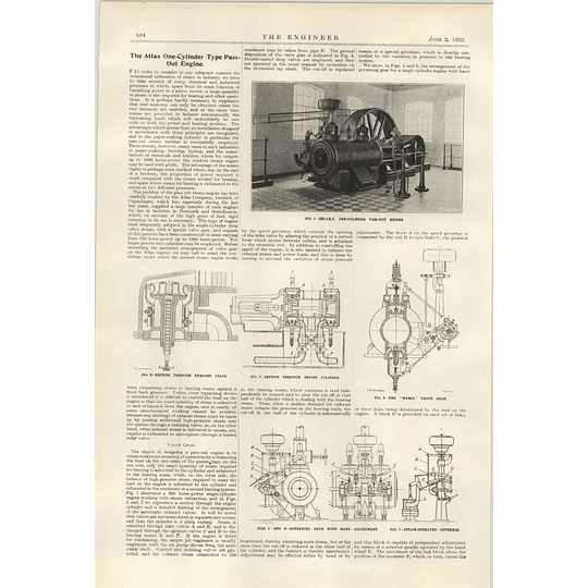 1922 Atlas One Cylinder Type Passout Engine