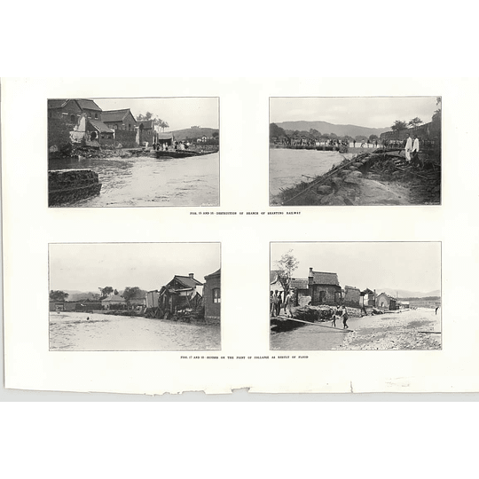 1922 Floods In China Destruction Shantung Railway Houses Collapse
