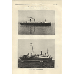 1922 New Atlantic Liners White Star Pittsburgh Cunard Antonia