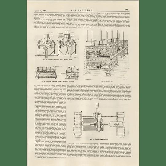 1922 Modern Flour Mill Vernon Millennium Mills 5 Plan Sifter Is Purifiers Mechanism