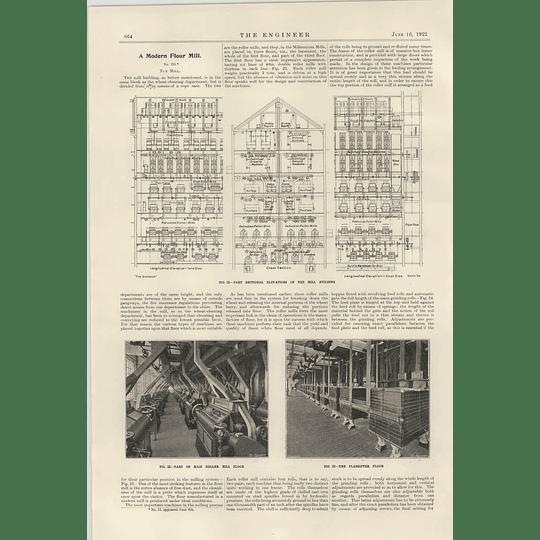 1922 Modern Flour Mill Vernon Millennium Mills 4 Building Section Plan Sifter Floor