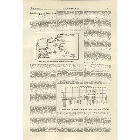 1922 Electrification Of The Chilean State Railways 1
