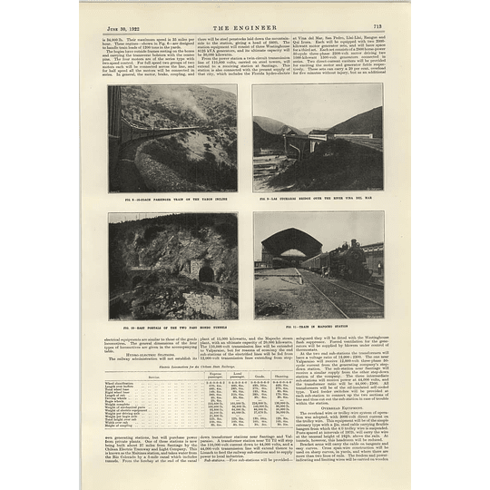 1922 Electrification Of The Chilean State Railways 2