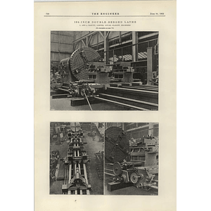 1922 104 Inch Double Bedded Lathe Harvey Govan