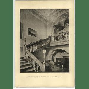 1902 Bryanston, Dorset, Staircase, Norman Shaw Architect