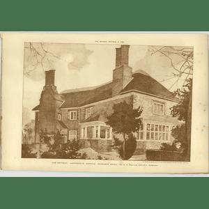 1902 The Retreat, Lakenheath Suffolk Entrance Front A N Prentice Architect