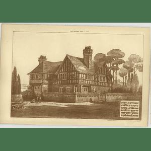 1904 Moss Cottage, Pinner, Additions For Percival Burkett