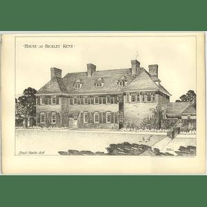 1904 House At Bickley, Kent, Ernest Newton Architect