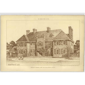 1905 House At Bickley, Kent Ernest Newton Architect