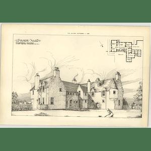 1905 Linkside, Nairn, Davidson Architect, Design, Plan