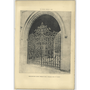 1905 Wrought Iron Gates In Worsley Hall Designed Mr F Glennie