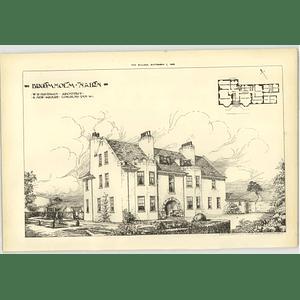 1906 Broomholm Nairn Davidson Architect Design Plan