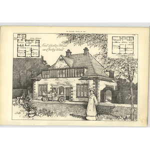 1907 Small Country House Near Chorleywood Design, Plan